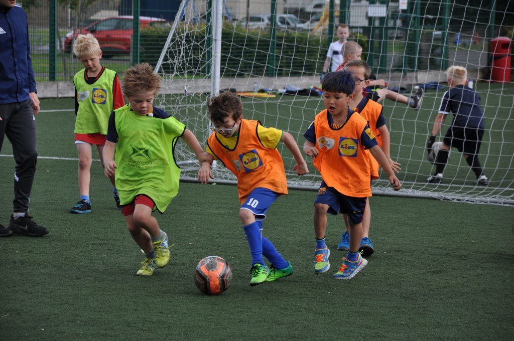 A trio from the younger group put their skills to the test.