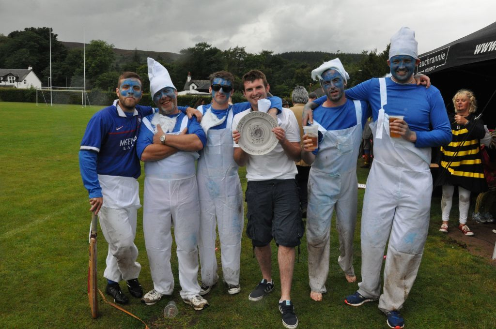The Smurfs won the plate final, earning themselves the Sannox Cricket Club plate.