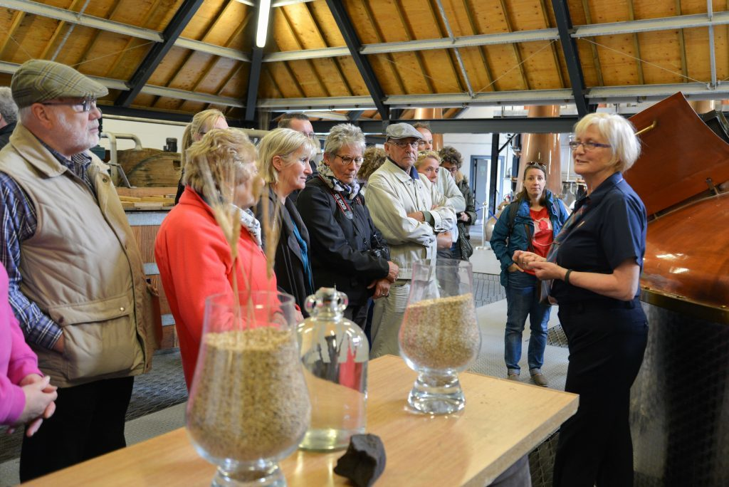 Visitors learn of the whisky process in the distillery. NO_B28_malt_04