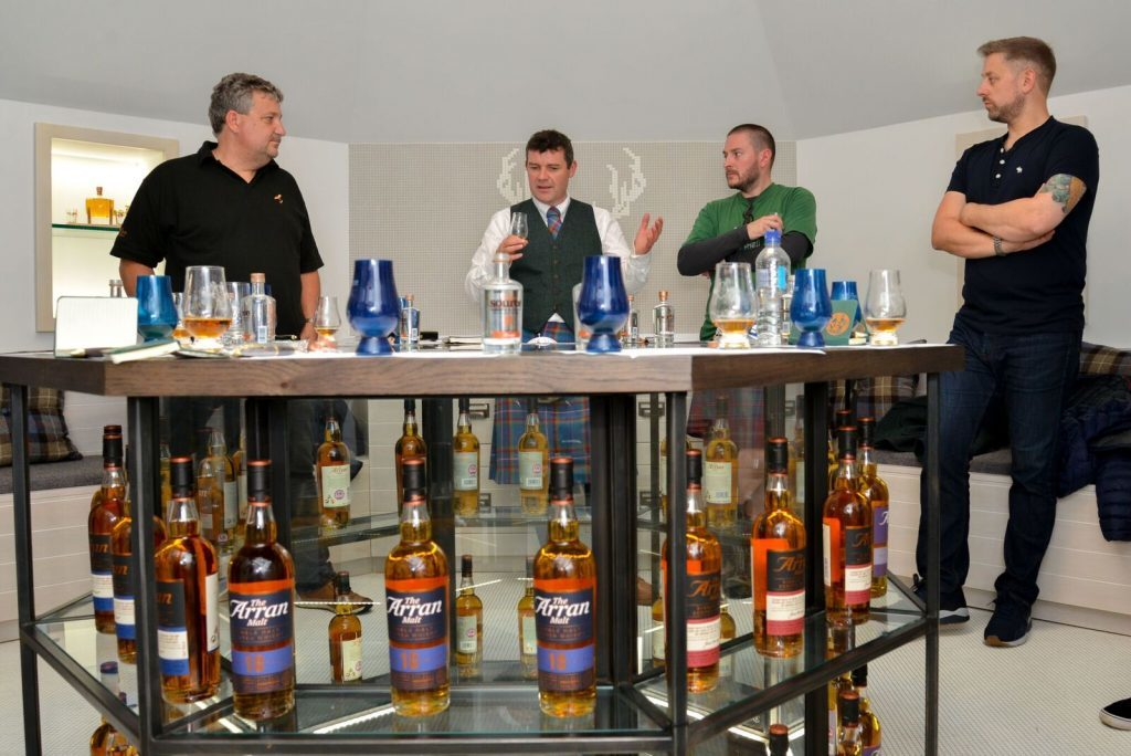 Euan Mitchell conducts a masterclass in the upstairs VIP blending room. NO_B28_malt_08