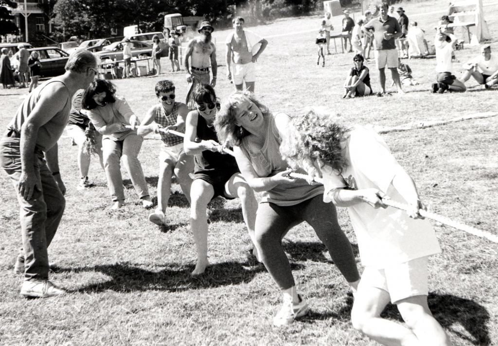An all female tug o' war completed a week of plate smashing, pillow fights and all sorts of races at the Kildonan Fun Week last Saturday.