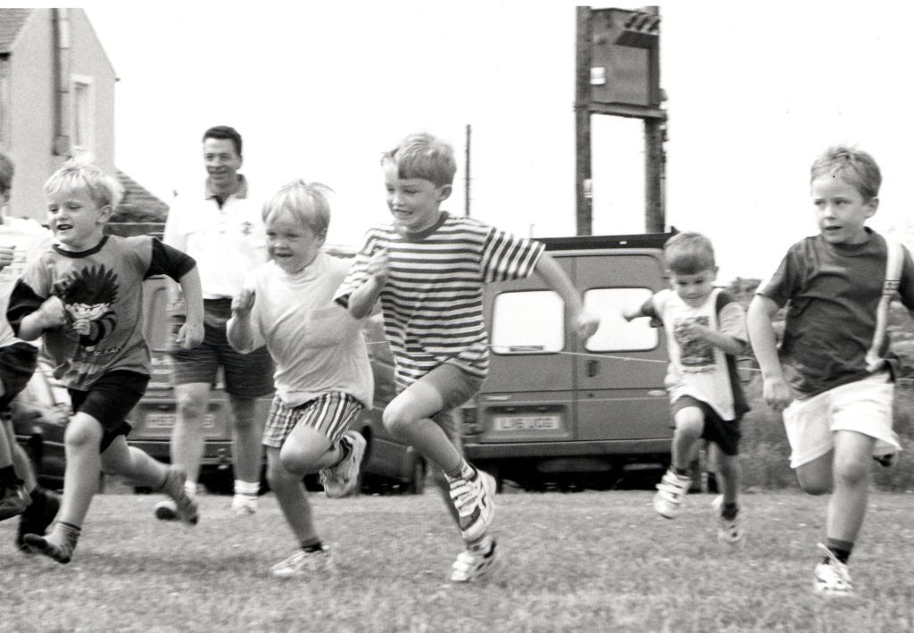The usual large turnout of children enjoyed the races at last weeks Shiskine Valley Sports Day.