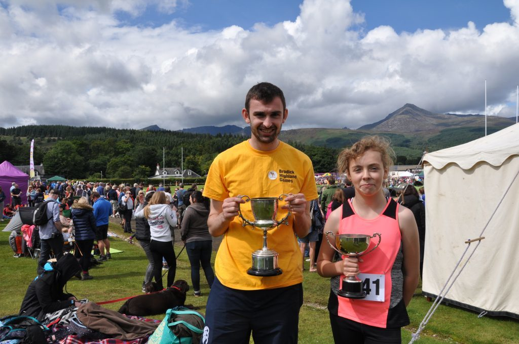 Arran only race winners Archie McNicol and Charlie Hodgart