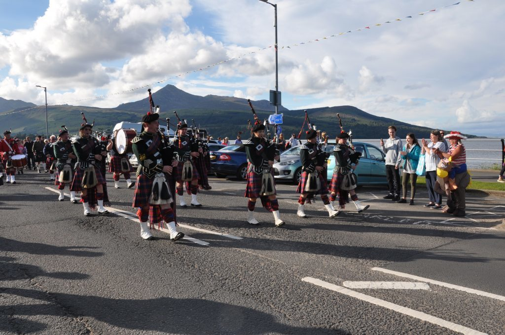 Rosie Cooke bids Maybole Pipe Band a fond farewell.