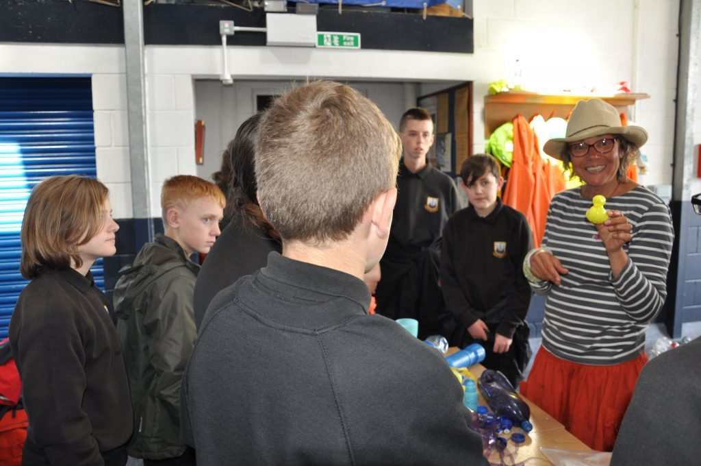 Arran High School pupils learn about the types of plastic pollution in the ocean including some of the more unusual items.