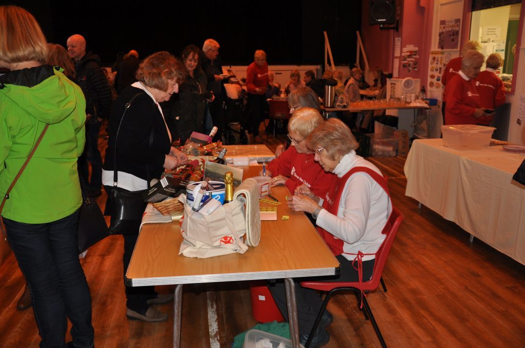 Margaret Auld and Vivienne Haigh did a roaring trade at the popular raffle stall