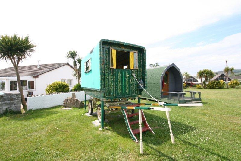One of the two gypsy caravans available for hire.