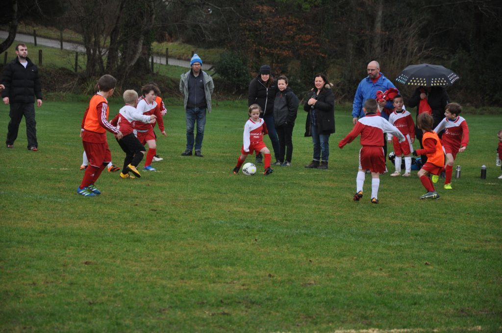 JANUARY - Arran's young footballers enjoyed a feast of football at the start of the year when Arran United FC hosted St Cadoc's Youth Club from Newton Mearns. 01_B52sport01
