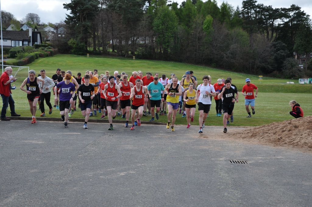 APRIL - Runners set off on the Ormidale 10K race with entrants coming as far afield as Manchester to take part in the first official race of the Scottish season. 01_B52sport08