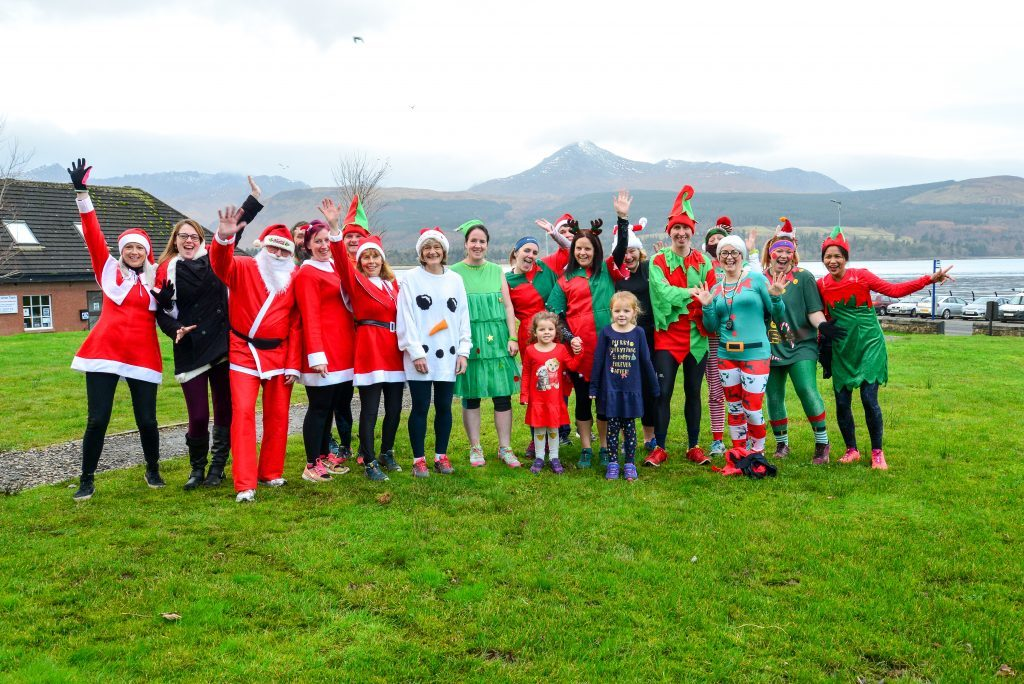 December - Island runners took to the streets for the annual 5k Santa Dash around Brodick dressed in festive attire
