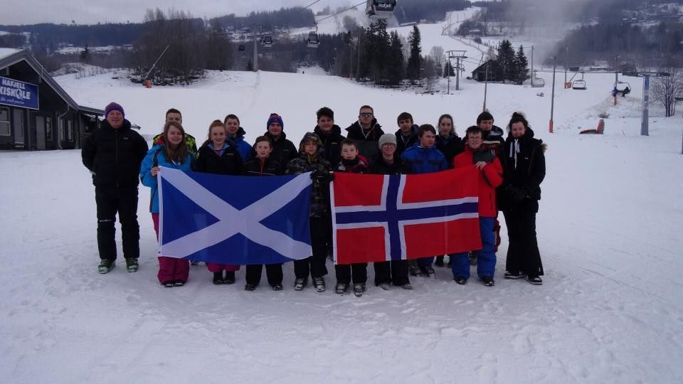 JANUARY - Arran High School pupils enjoyed another winter sports trip to Lillehammer in Norway over the new year period. NO_B52sport02
