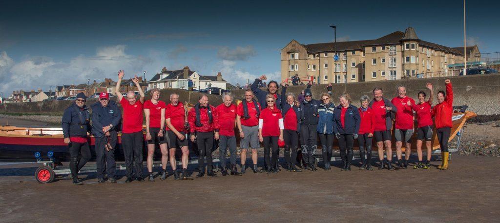 October - Aran Coastal Rowing Club ended their last regatta of the season on a high note after winning the Prestwick regatta trophy