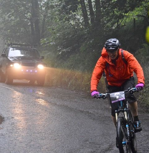 A cyclist enjoys the riding conditions during a road event last year. Photo by PhotoGnick Arran