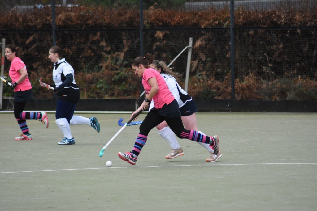 Match Captain Lorraine Hewie powers down the side line leaving Ferguslie players struggling to catch up