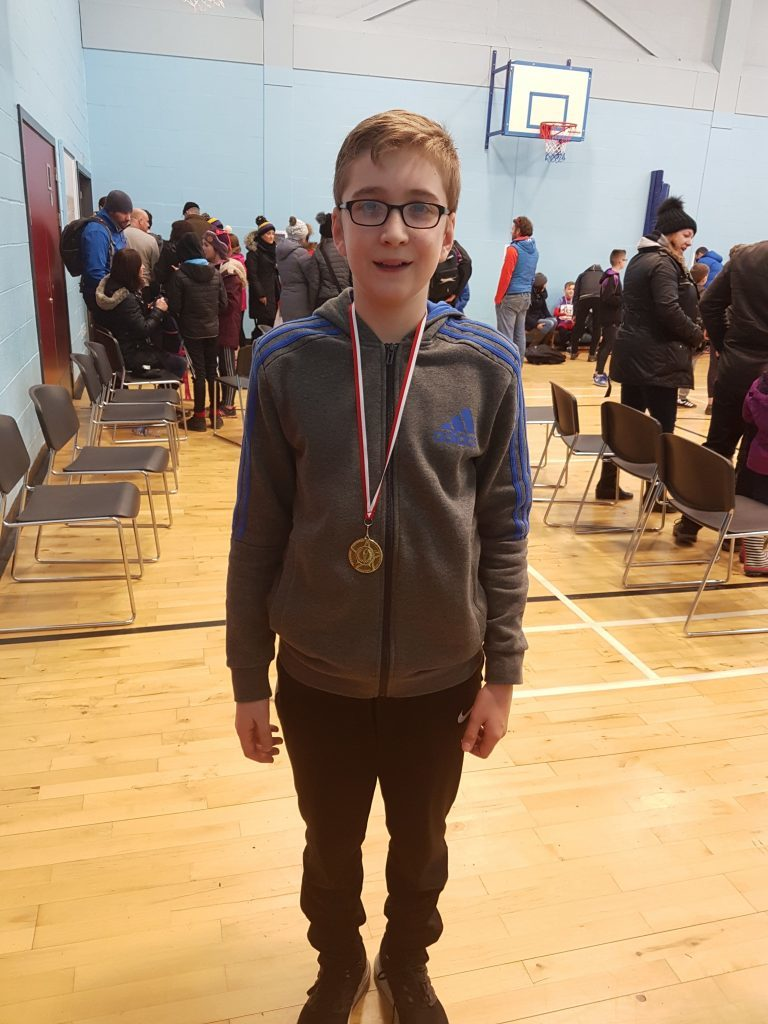 James McCarthy of Arran High School with his first place medal