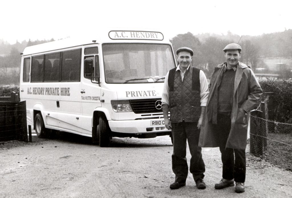 Can you tell the difference? Yes, it is a brand new £44,000 bus that Charles (left) and Alasdair Hendry of A & C Hendry Private Hire have purchased for transporting large parties. The 24 seater bus is the largest the brothers have owned and sports the highest levels of comfort and the latest safety measures