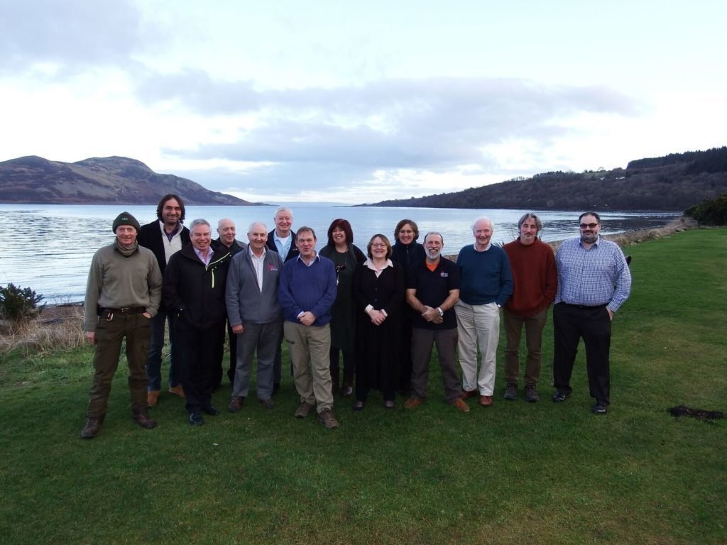 Delegates of the SEPA meeting with Terry A'Hearn and Howard Wood at the Marine Protected Area site.
