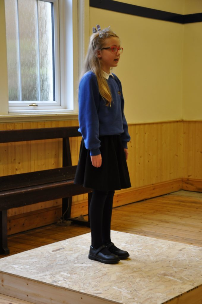 Olivia McNeice recites To a Louse by Robert Burns in the verse speaking category