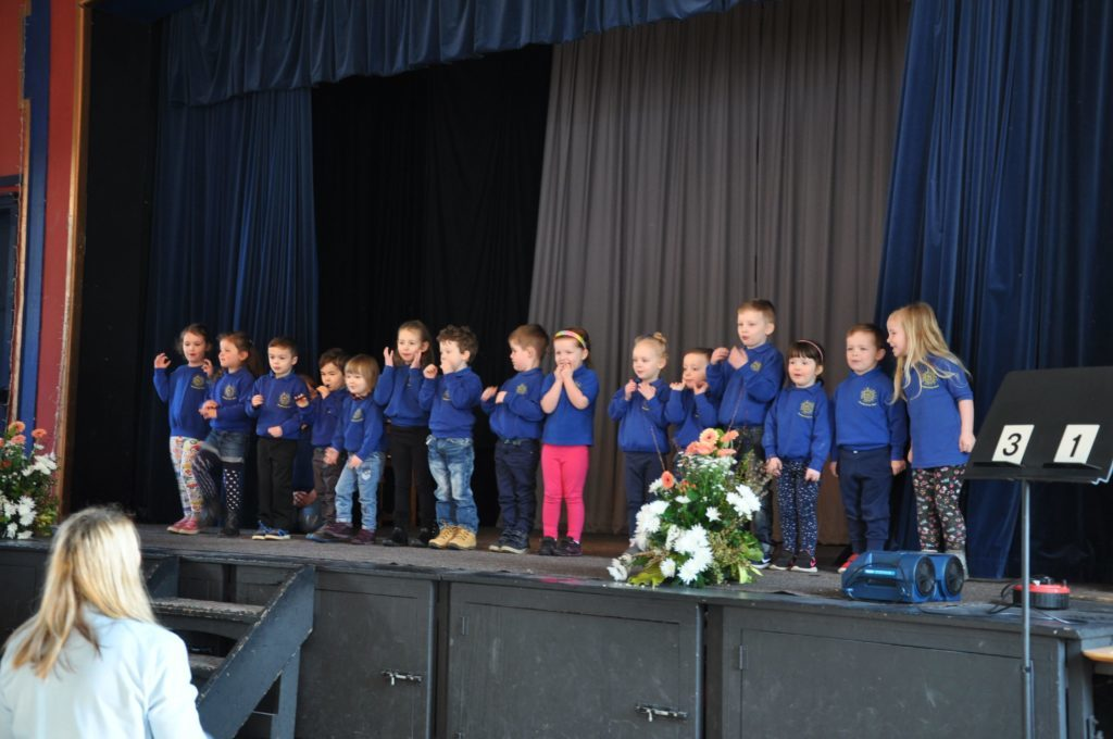 Brodick Early Years class perform in the actions songs category