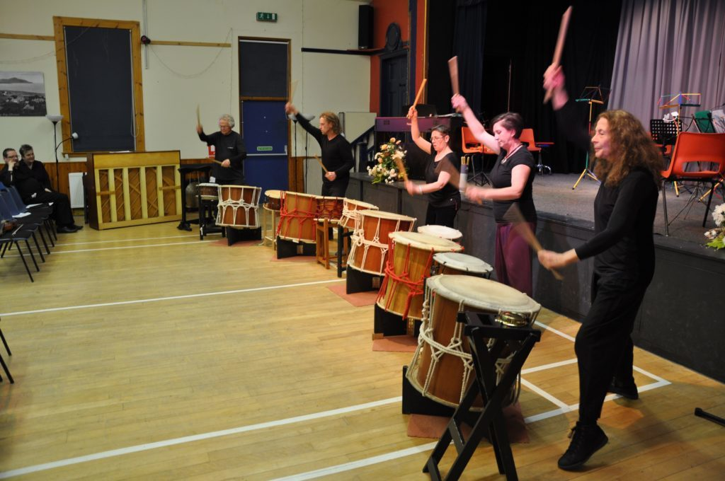 Druma Daiko performed a well timed and impressive performance on the Taiko drums