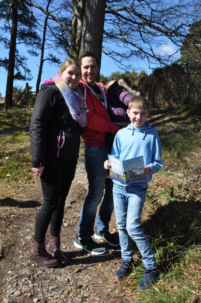 The Gregg family seek out the clues in the Easter trail