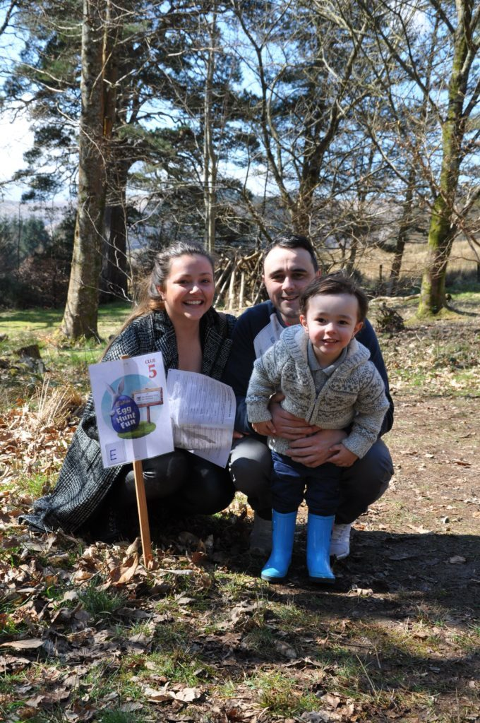 Rosie O' regan and Colin Miller with son Lucas spent an enjoyable Easter at Brodick Castle