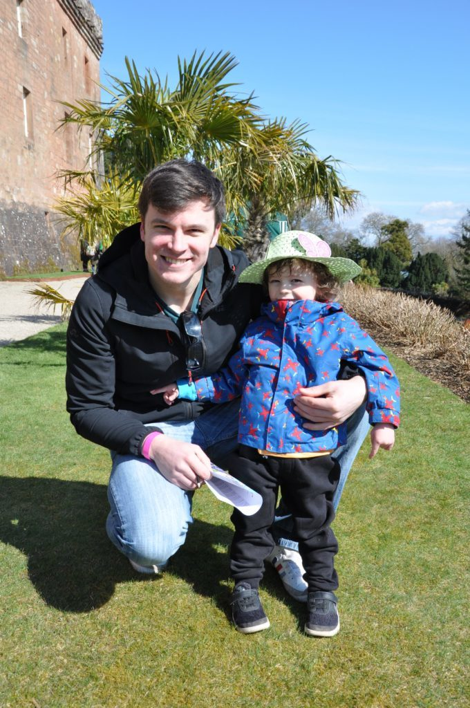 Dad Donald Roberts enjoys a day out with son Jensen