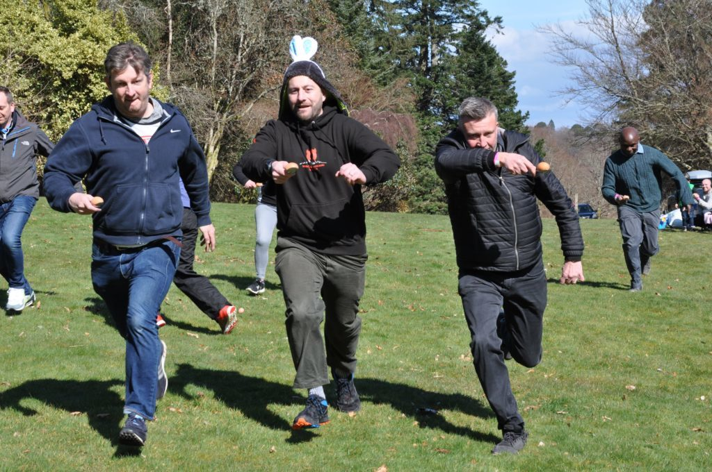 Adults join in on the fun at the wacky races