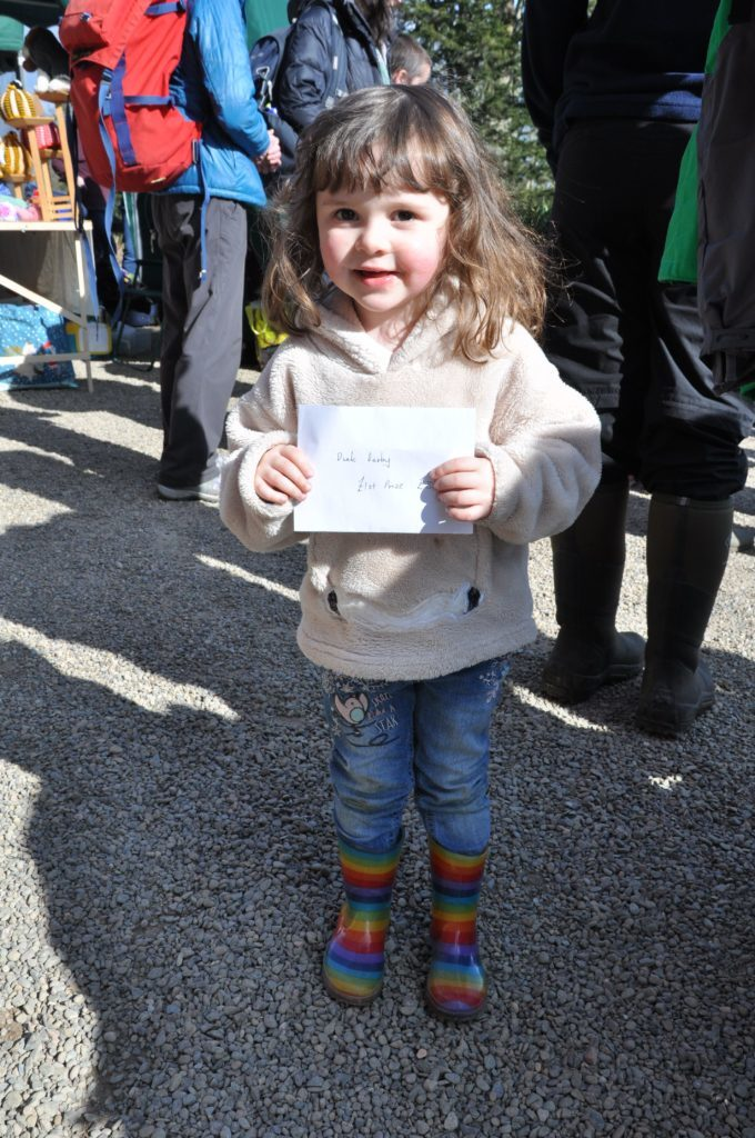 Young Hazel Price gets a boost to her savings by winning first place in the duck derby