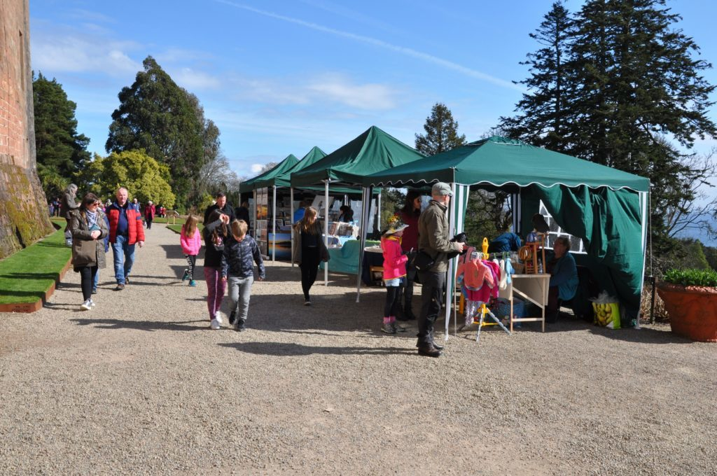 Visitors browse the craft stalls which were hosted by the Castle for the first time this year