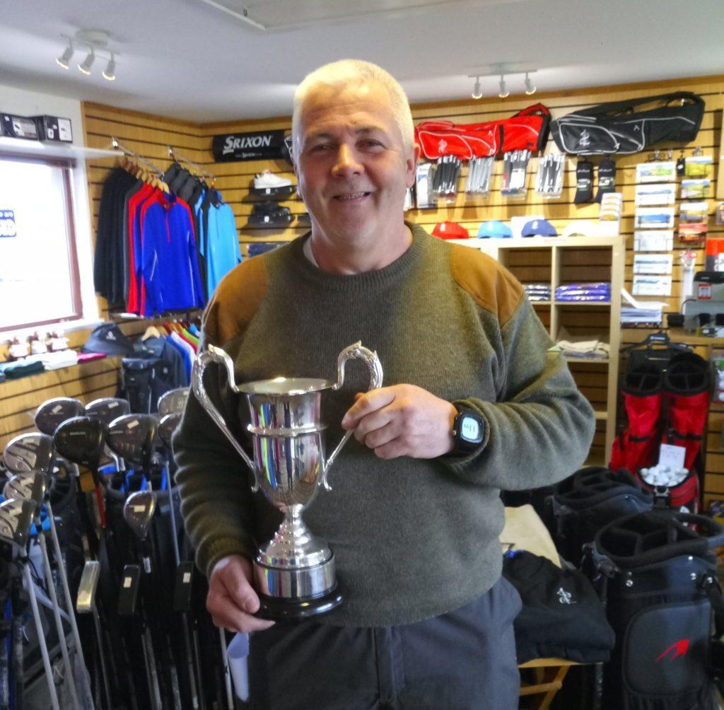 Willie McNally, winner of the Daniel Ferguson Trophy at Shiskine.