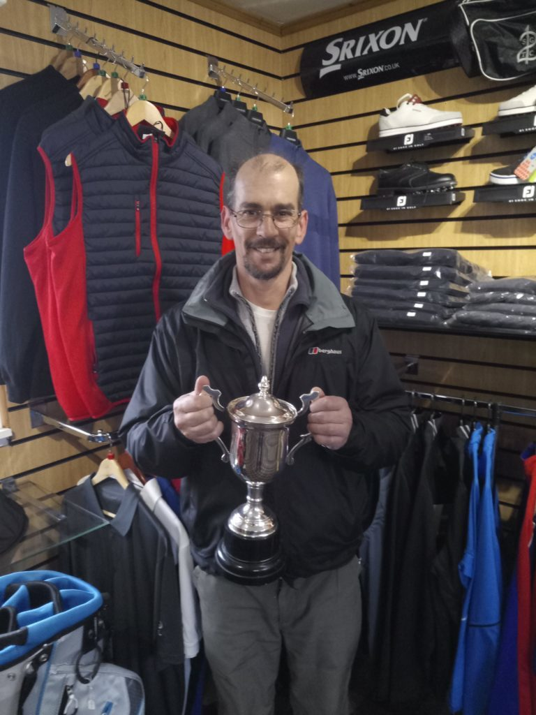​Reuben Betley who won the Winter Cup at Shiskine.