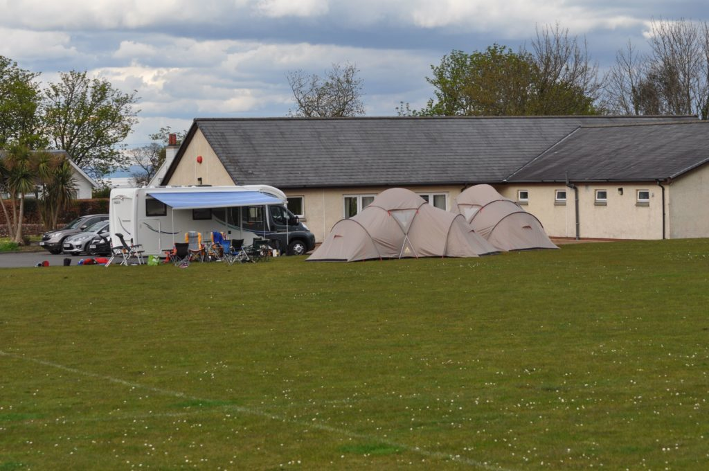 Stirling Wanderers set up a base camp at the Ormidale Pavilion during their visit.