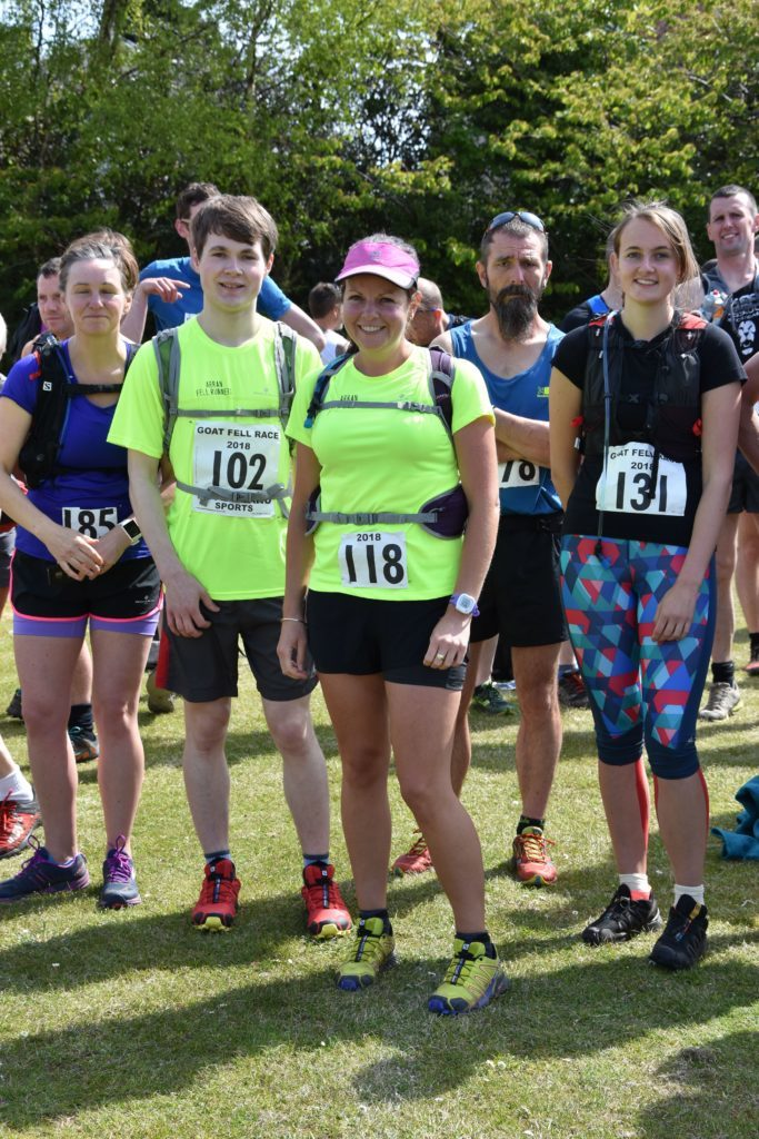 A contingent of Arran runners looking fresh and well prepared prior to the race.