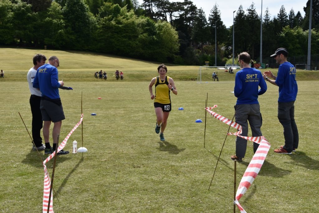 First female over the line, Ruth Crewe of Westerlands Cross Country Club.
