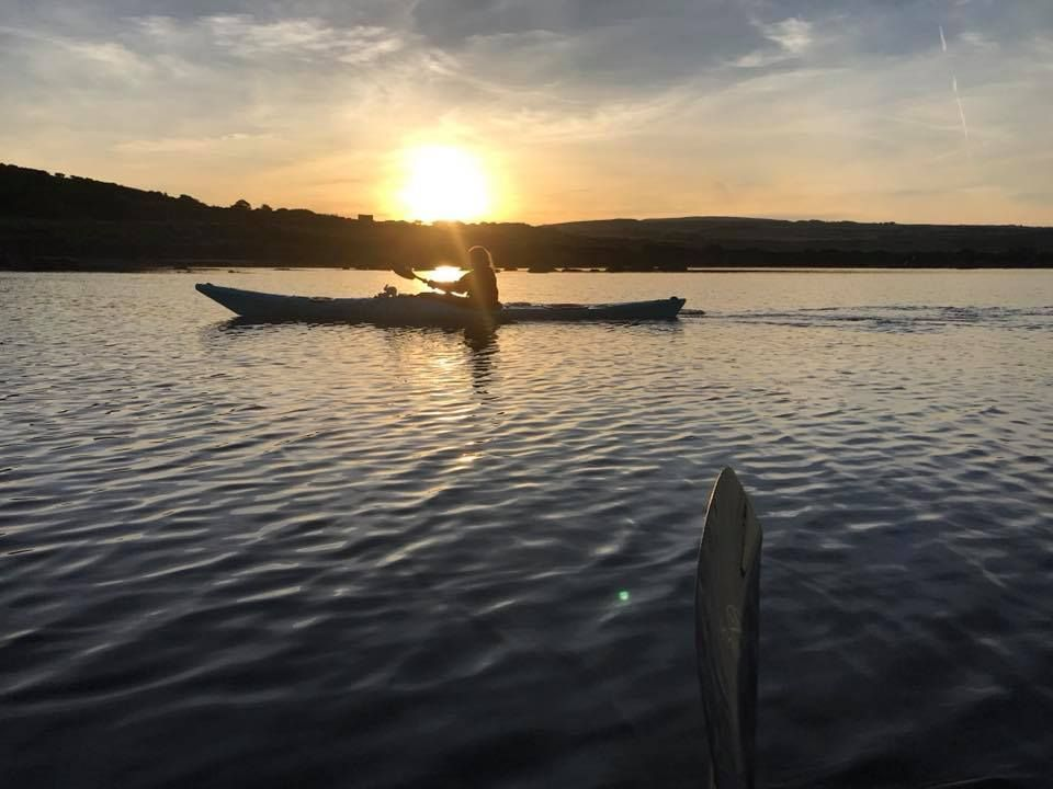 The early morning paddlers who set off in the dark were treated to a stunning golden sunrise on the water.