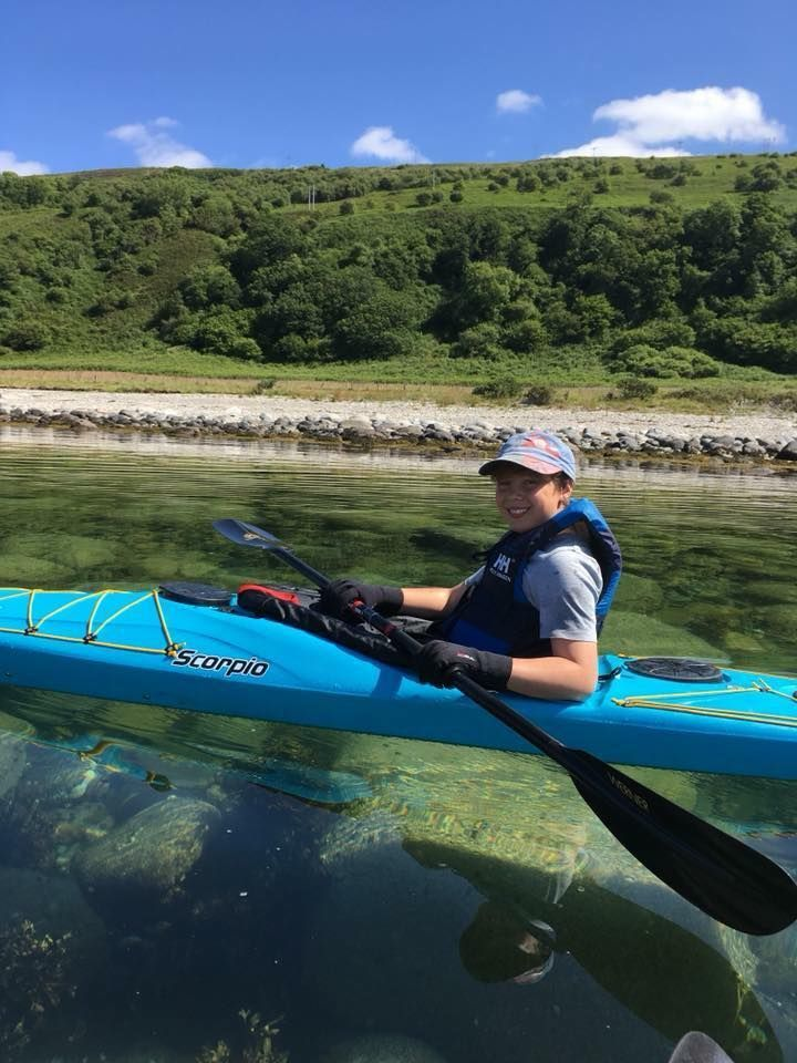 Club member Sid Townsend enjoyed the clear waters of Arran.