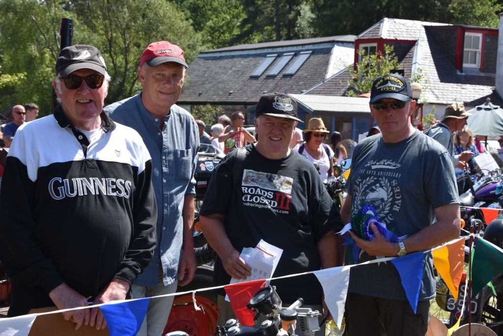 Judges John Hartley, Ronald Logan, Lenny Hartley and Tom Kerr had the difficult task of judging all of the motorcycles on show.