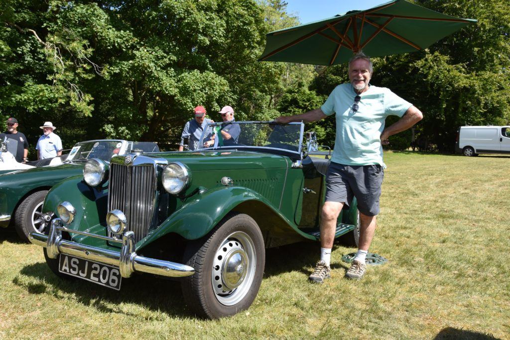 First place winner in the vehicle category, Bill Martin of Lamlash with his 1951 MG TD.