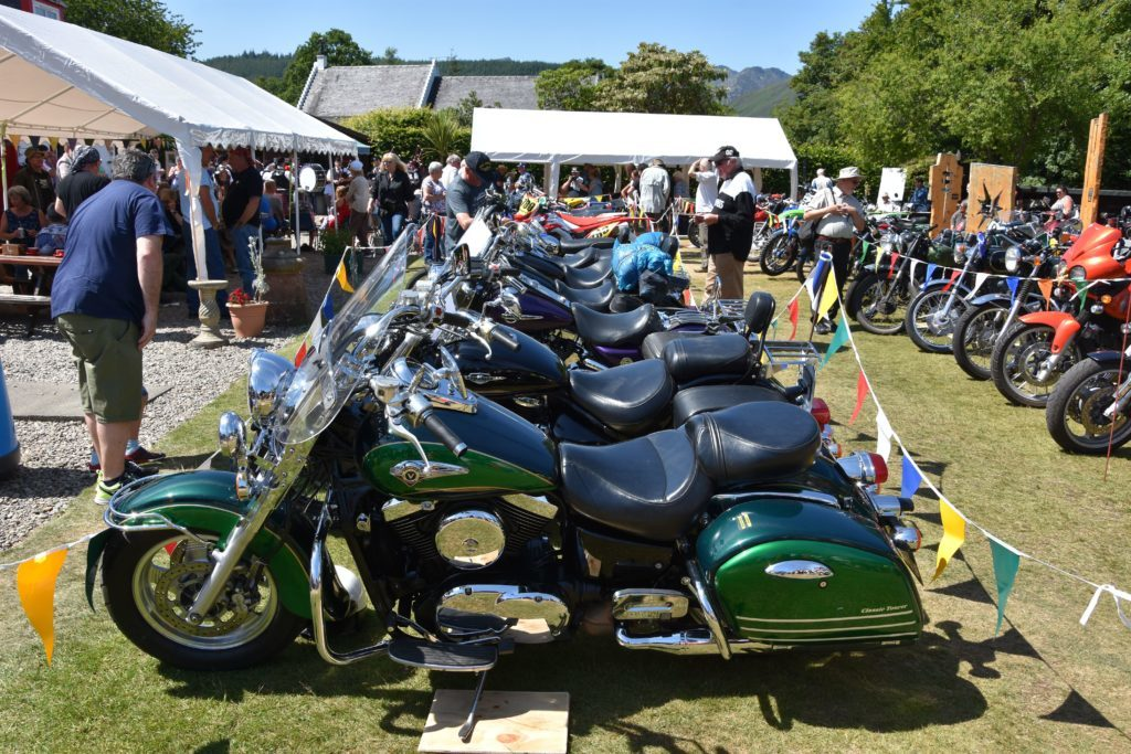 With a great deal of chrome on display the touring bikes attracted a large amount of interest.
