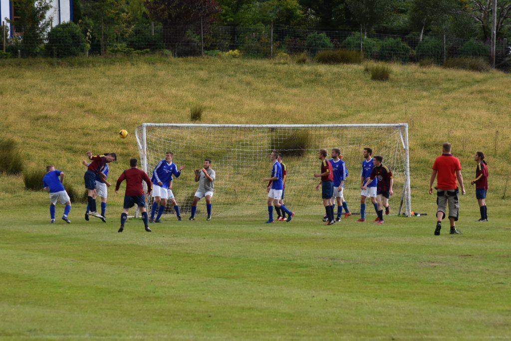 A Northend close range header attempt at goal goes high.