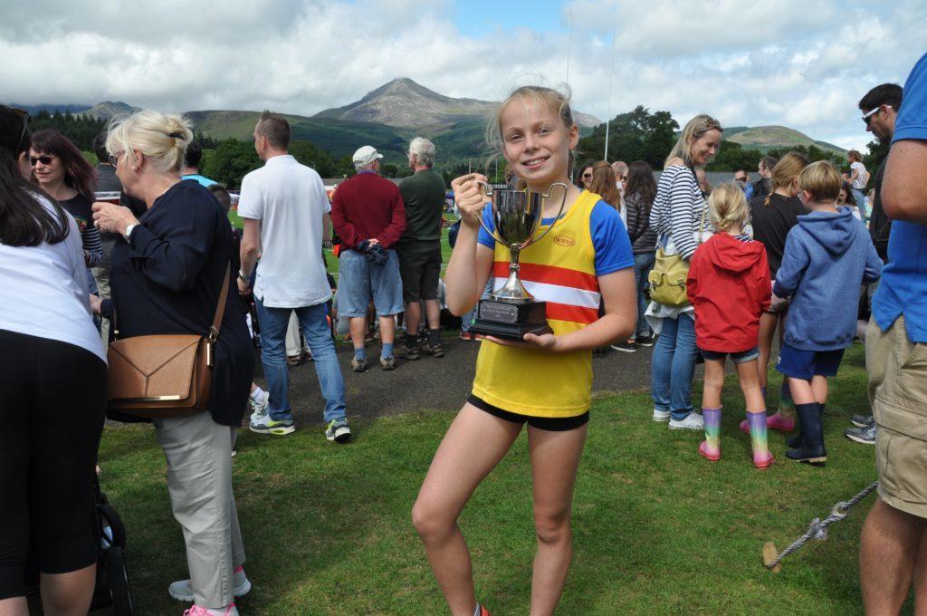 Susannah Kay won the girls Stewart Dickie Trophy.
