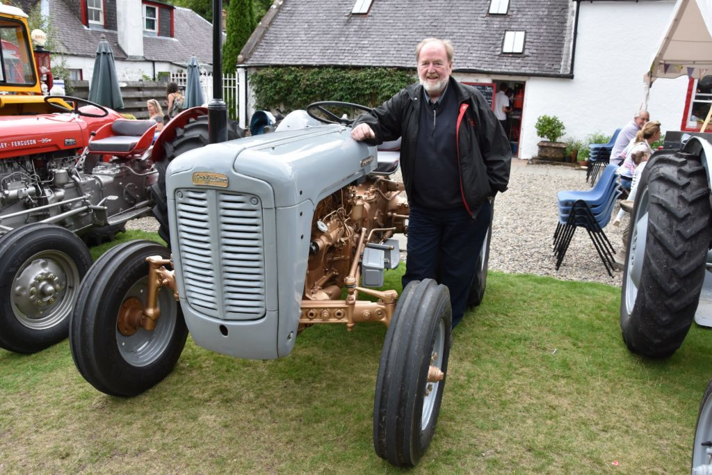 DG Weir with his restored Ferguson FE-35 which recently won the best in class and runner up to best in show at the Arran Farmers' Society show.