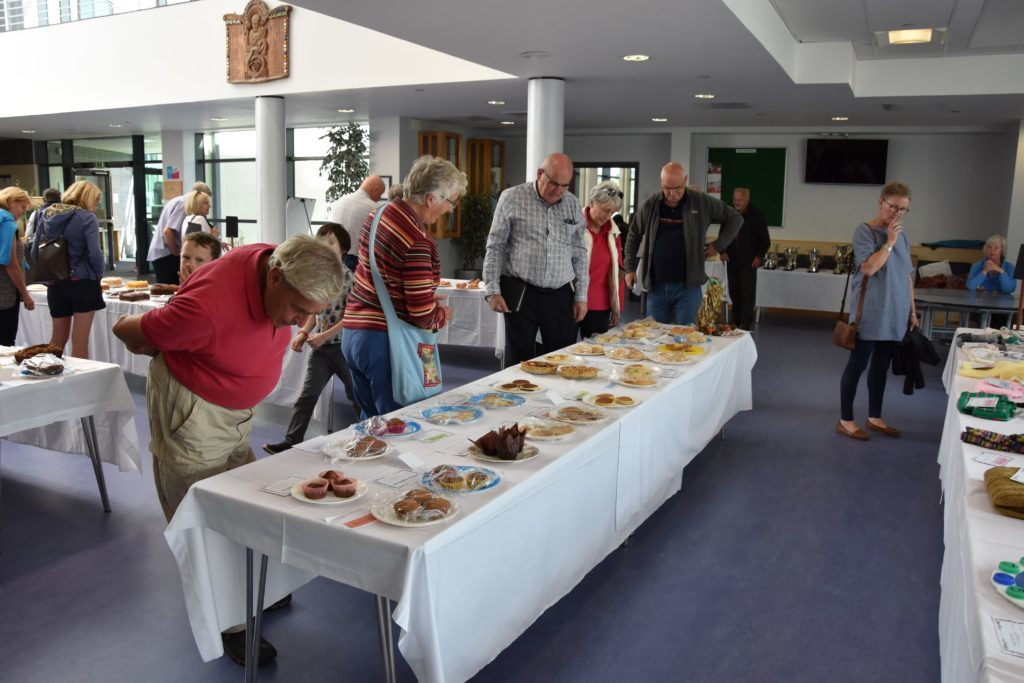 Scones, tarts, pancakes and biscuits were all examined under the critical eyes of visitors.