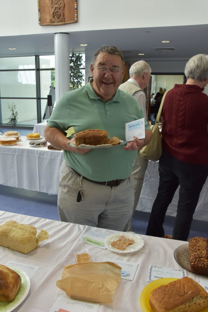 Following a recipe received from an Australian coffee shop owner while on holiday, Neil Frost took second place for his banana loaf.