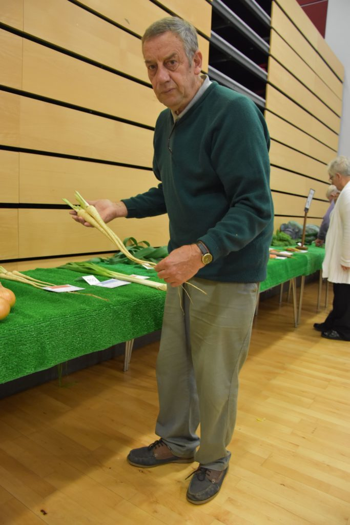 Parsnip perfection, John O'Sullivan's parsnips were judged as best in show.
