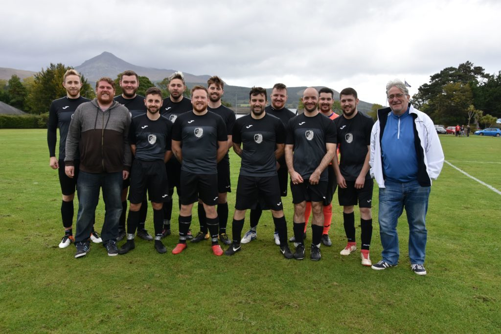 Galston AFC in a pre-game photograph.