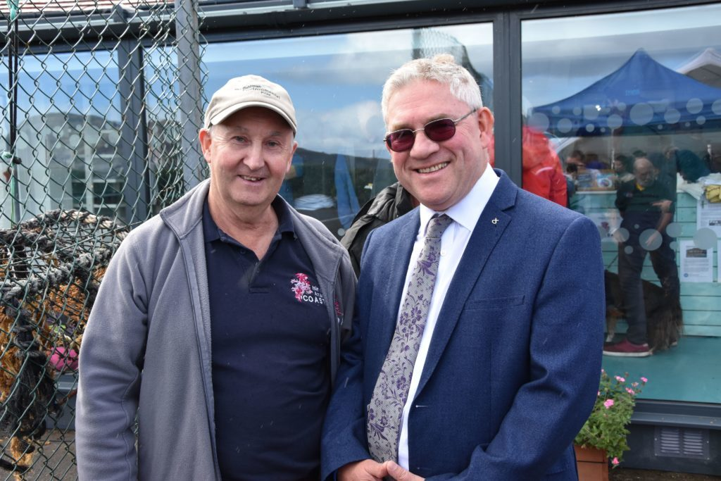 Howard Wood and Kenneth Gibson MSP at the opening.