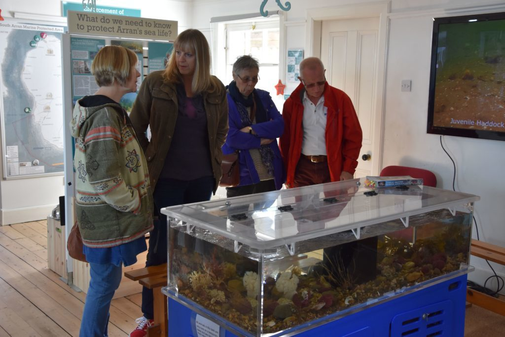 Visitors explore the attractions in the Octopus Centre.