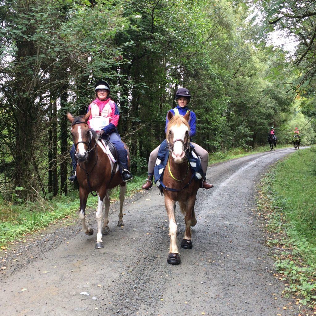 Laura Tulloch and Daisy McNamara on the orienteering course.